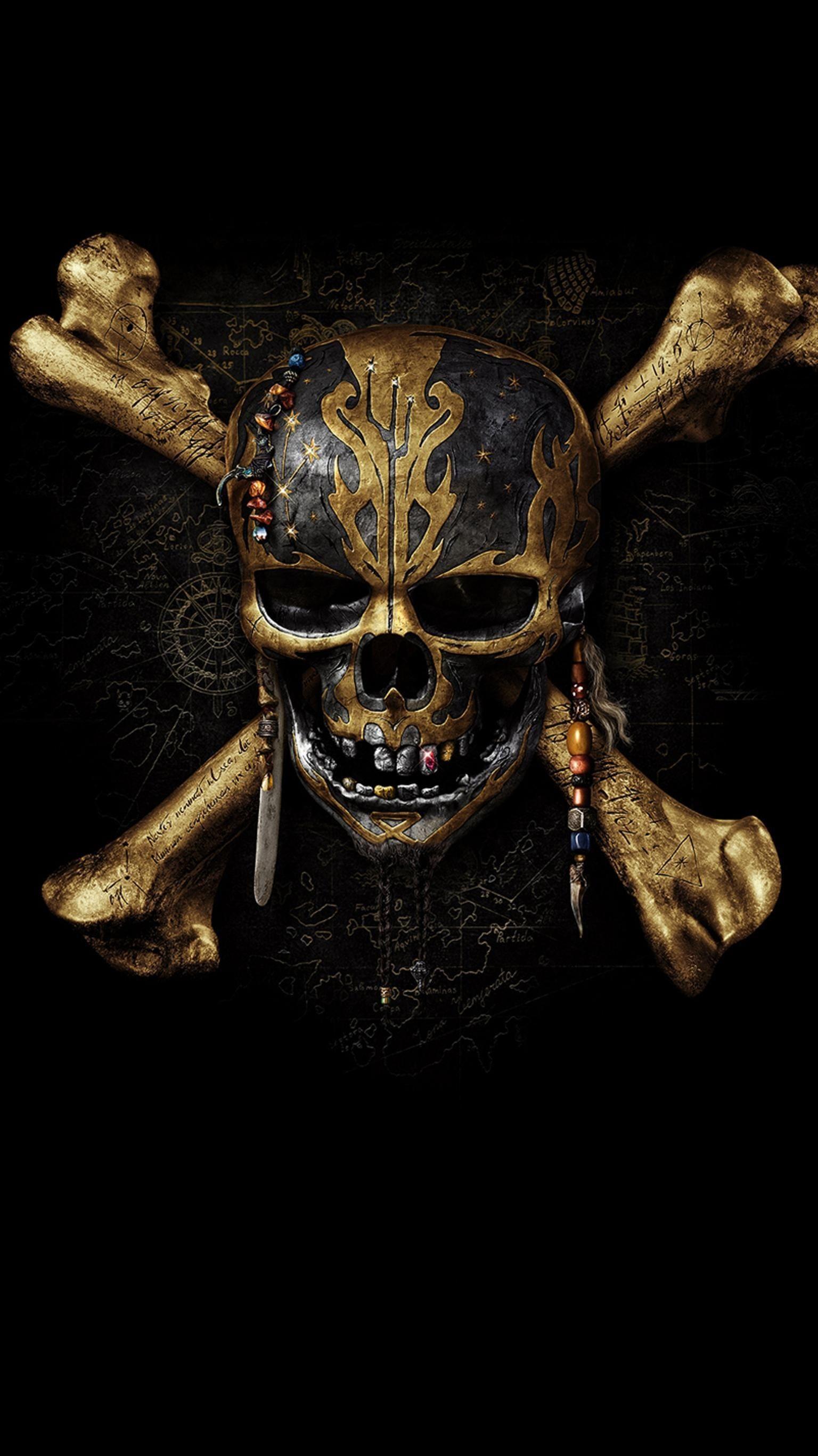 Fresh Pirates Of The Caribbean 5 Skull Wallpaper Skull Wallpaper Pirate Art Pirate Skull Tattoos