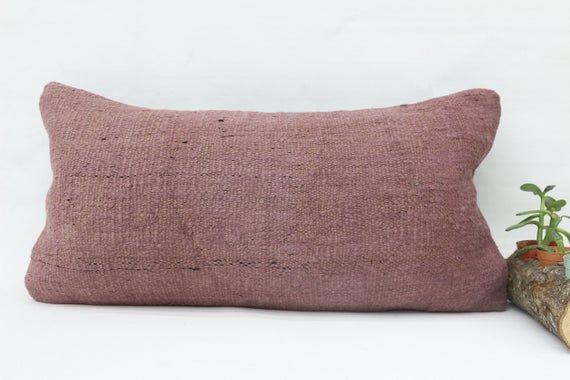 Yoga Pillow,12x24 Handwoven Kilim Pillow,Neck Pillow,Flat Pillow,Hemp Pillow Cover,Nomadic Pillow,Pi