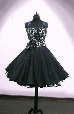 Petticoat Kleid schwarz/beige mit Spitze - aufheben ...