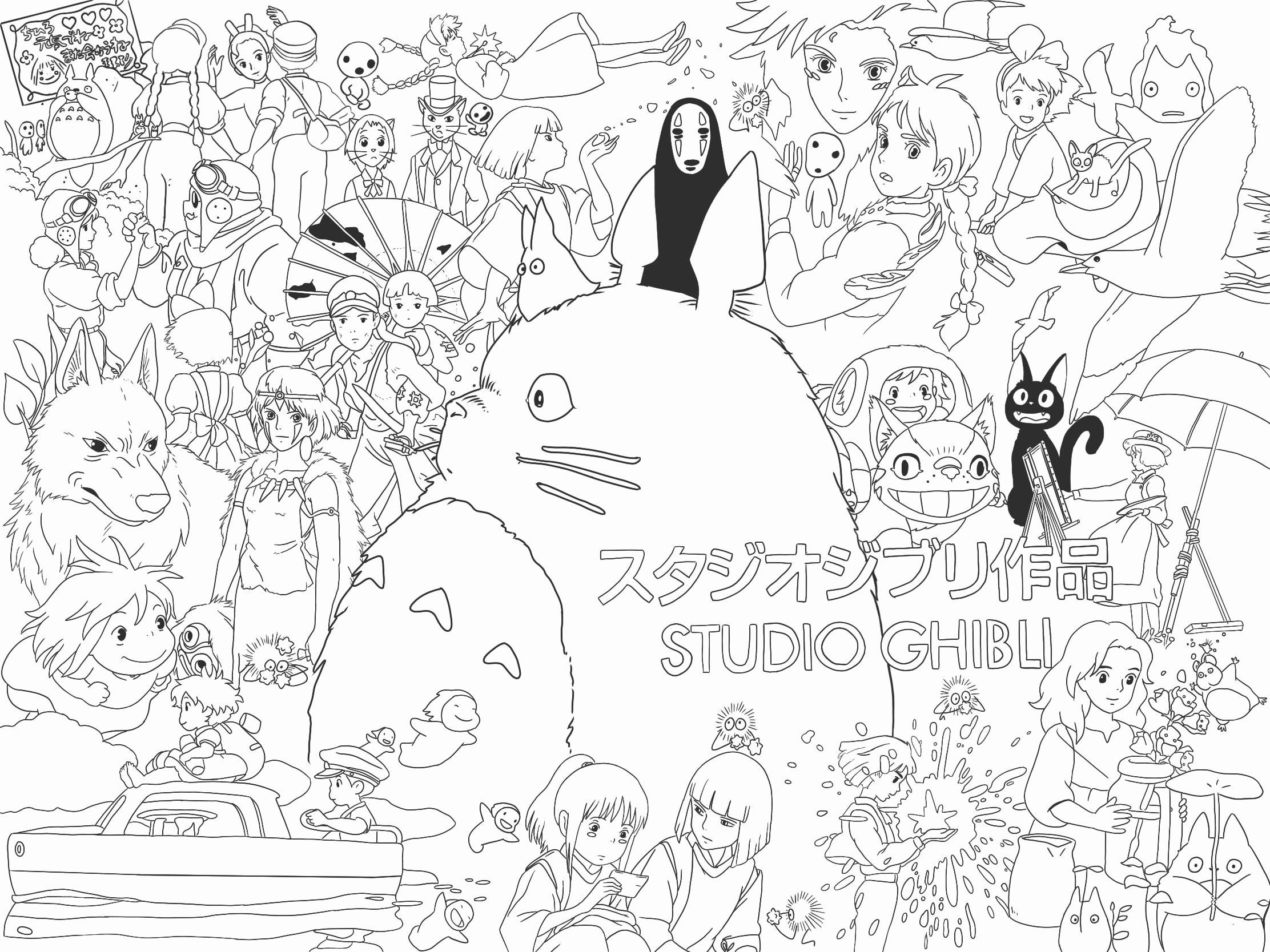 Studio Ghibli Coloring Book Elegant I Made Myself A Wallpaper Coloring Book Page Traced Cat Coloring Book Coloring Book Art Coloring Books