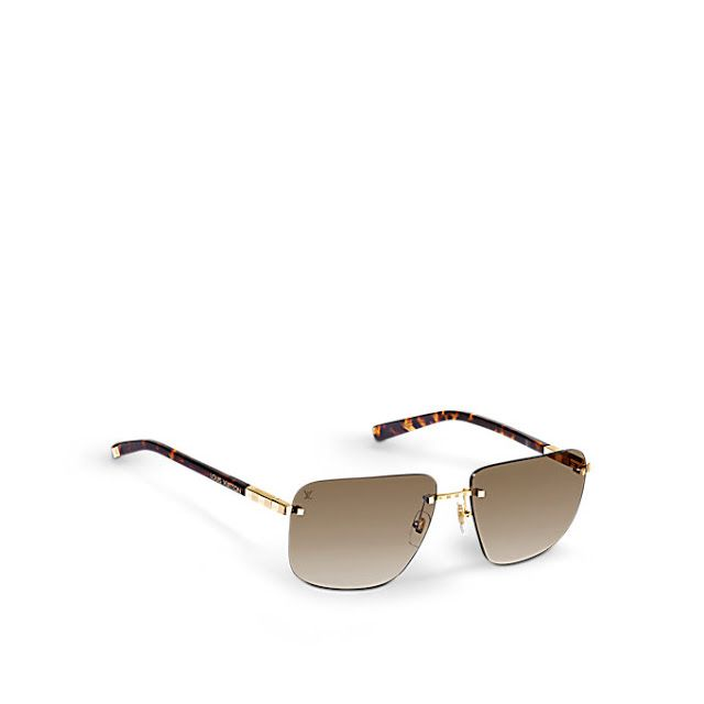 1cdff96a807a3 Louis Vuitton Attraction Rimless MM Sunglasses