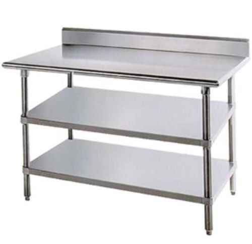 Stainless Steel Prep Work Table 24 X 48 Backsplash With 2 Https Www Amazon Com Dp B06zz3 Stainless Steel Work Table Stainless Steel Prep Table Steel Table