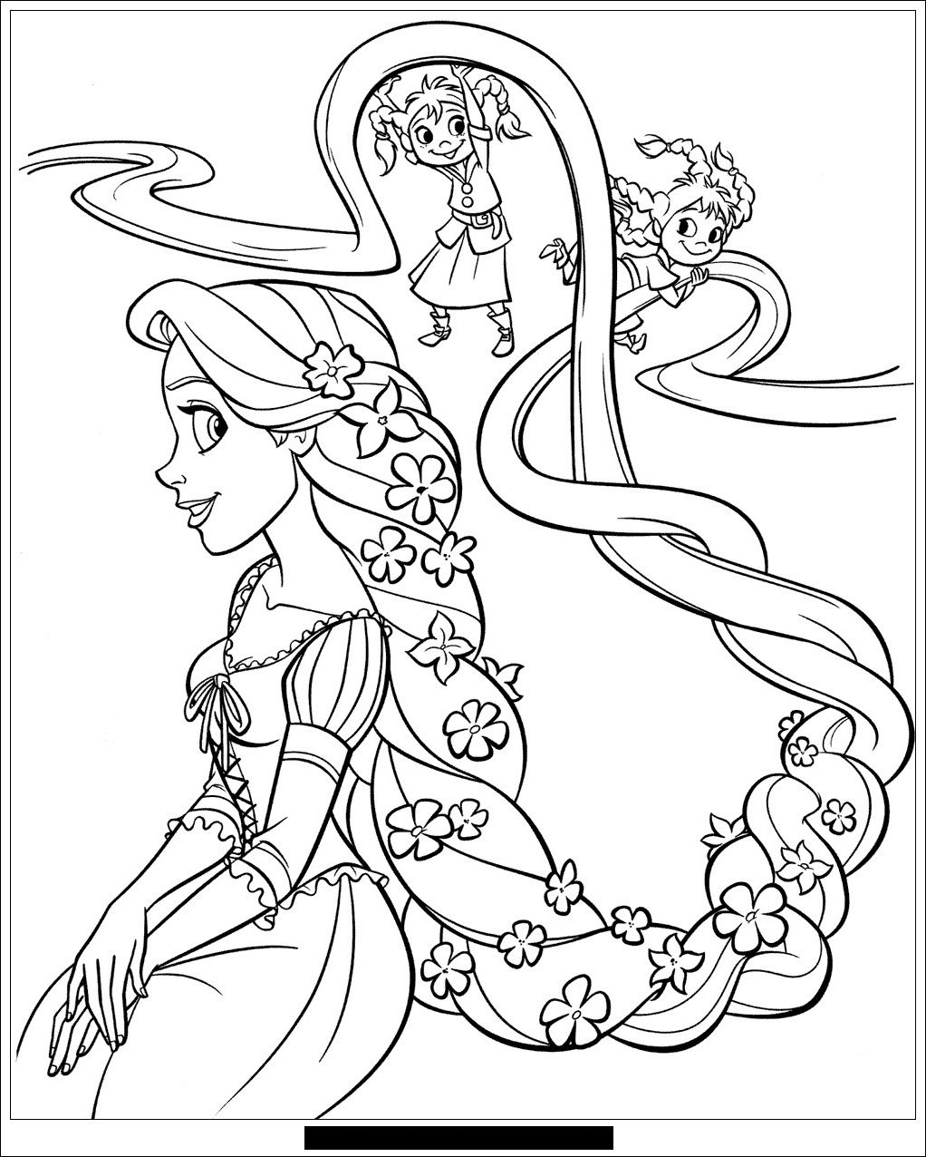 Raiponce disney 29 Coloriage Raiponce Coloriages pour  Tangled