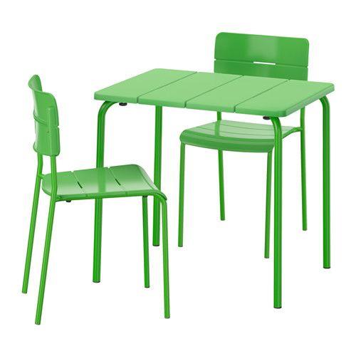 V dd tavolo 2 sedie da giardino bianco sedie da - Ikea tavoli e sedie da giardino ...