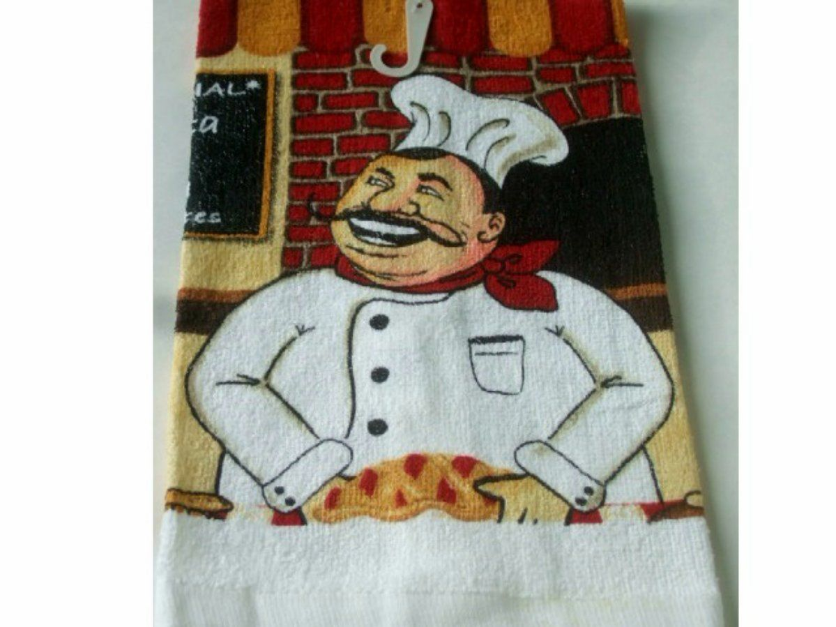Happy Fat Chef Kitchen Towels Set We also offer the matching kitchen ...