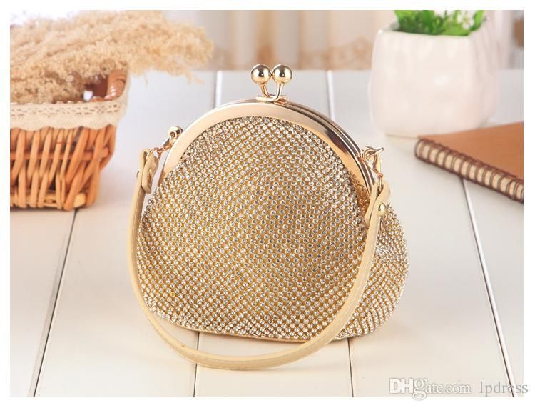 Luxury Bridal Hand Bags Gold Silver Gray New Arrival Clutches 2017 Eye Catching Wedding Accessories Handbags Clutch Handbag From Lpdress