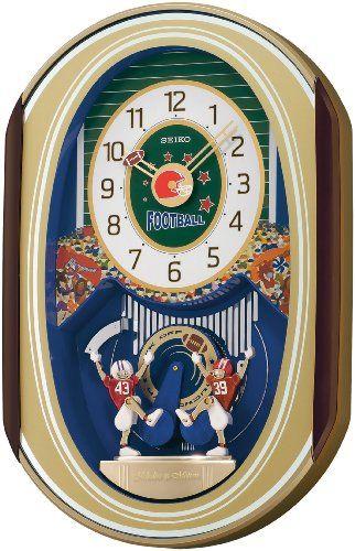 Seiko Melodies In Motion Football Theme Clock Seiko Http Www Amazon Com Dp B002j4udac Ref Cm Sw R Pi Dp Y Tesb13mz1rt12d Clock Football Wall Football Themes