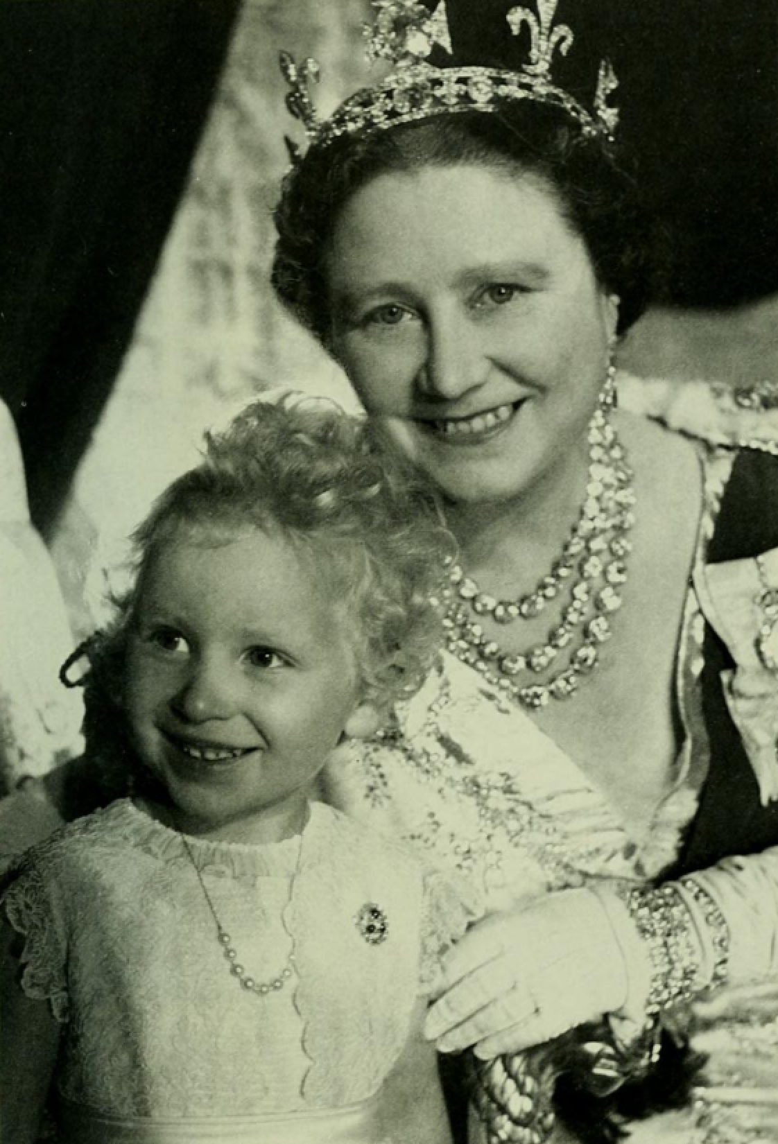 The Queen Mother and Princess Anne, 1953 Queen mother