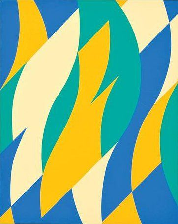 Fold 2004 By Bridget Riley Hard Edge Painting Abstract
