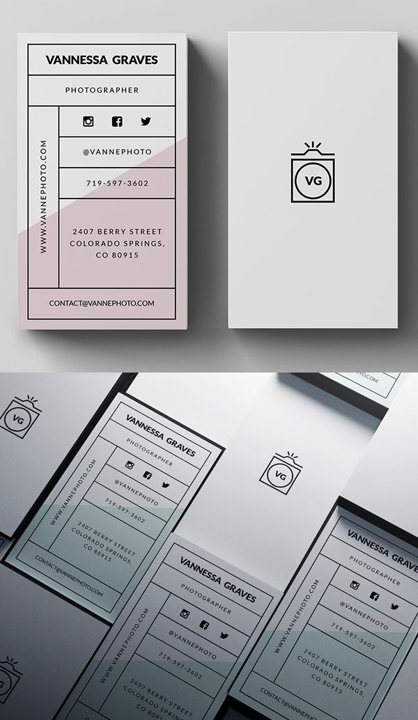 Stylish Business Card PSD Template #businesscards #branding ...