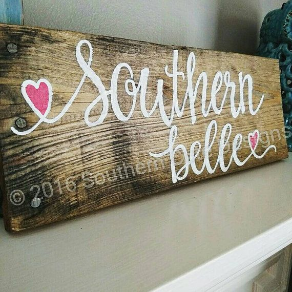 Southern Girl Wood Sign | Wood signs, Create sign, Vinyl ...  |Southern Girl Signs