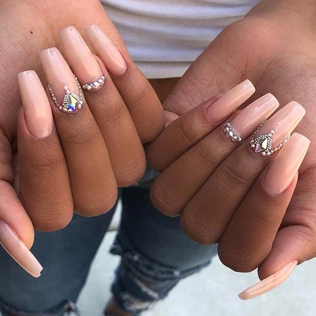 43 Beautiful Nail Art Designs For Coffin Nails Page 2 Of 4 Stayglam Elegant Nail Art Elegant Nails Coffin Nails Long