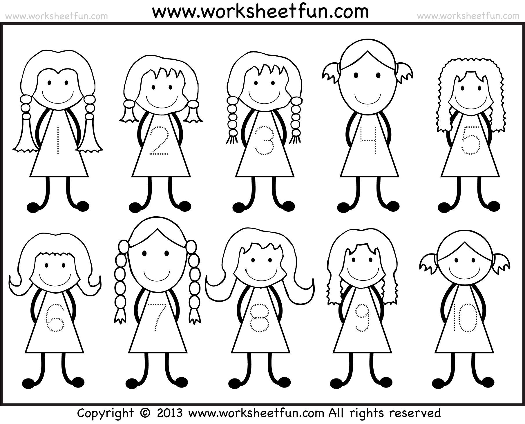 Preschool Worksheets Online And Tracing Number Tracing