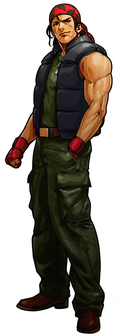 King Of Fighters XI Game Character Official Artwork Ralf Jones-Also seen in Metal Slug which was awesome