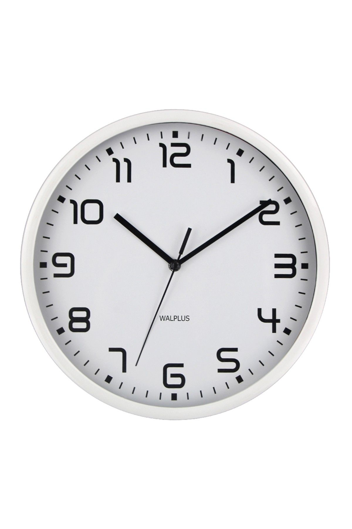 White Chictime White 25Cm Wall Clock Silent Movement Home