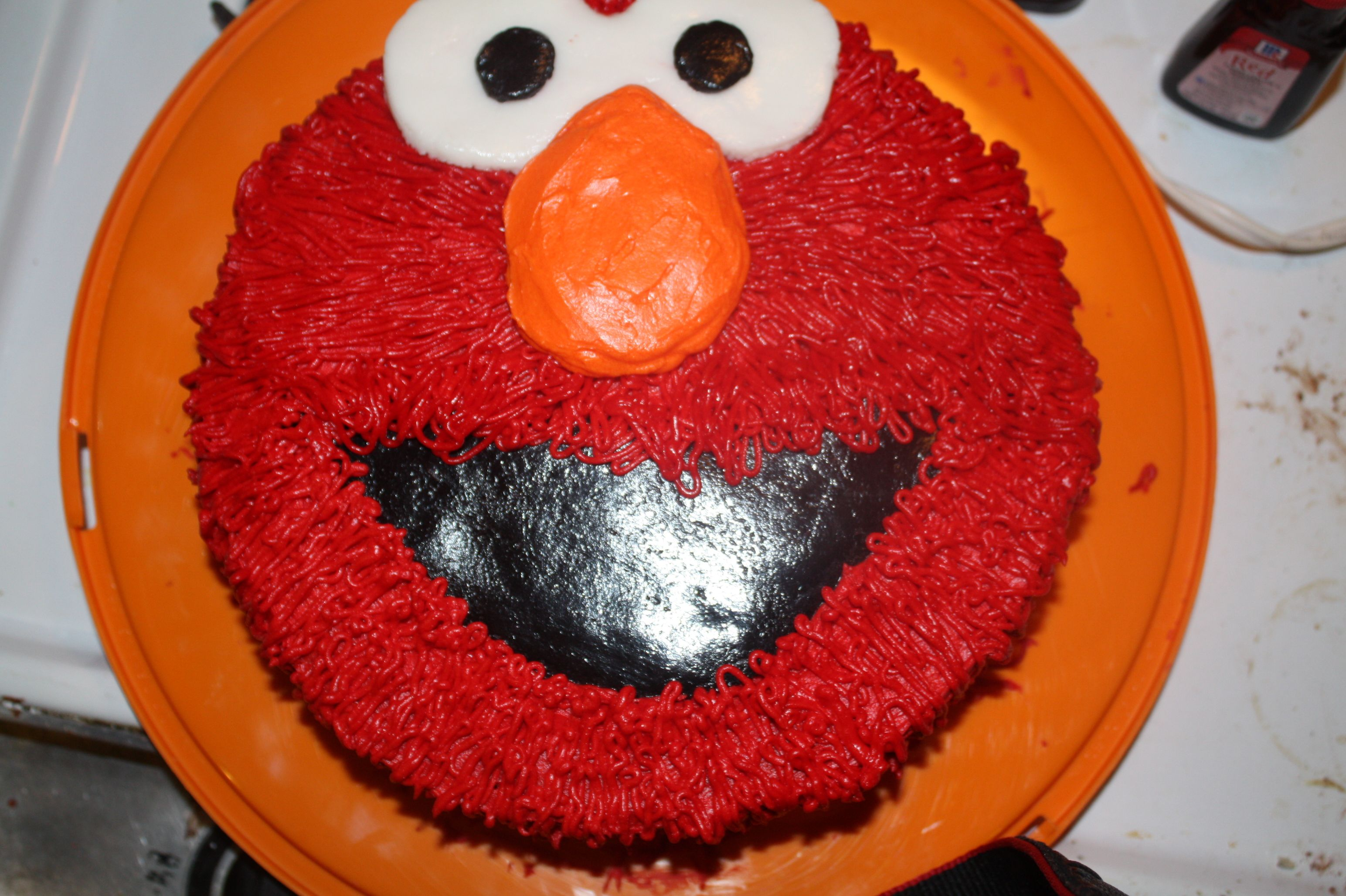 Elmo Cake DIY with round cake pans Mmm yummy Pinterest Elmo