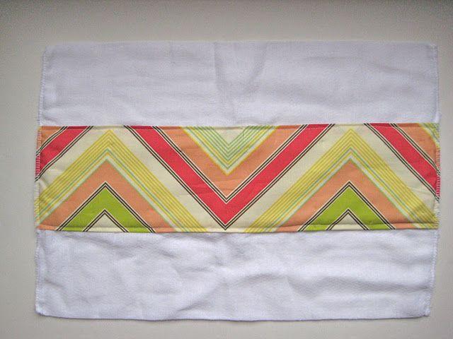 DIY burp cloths - super easy
