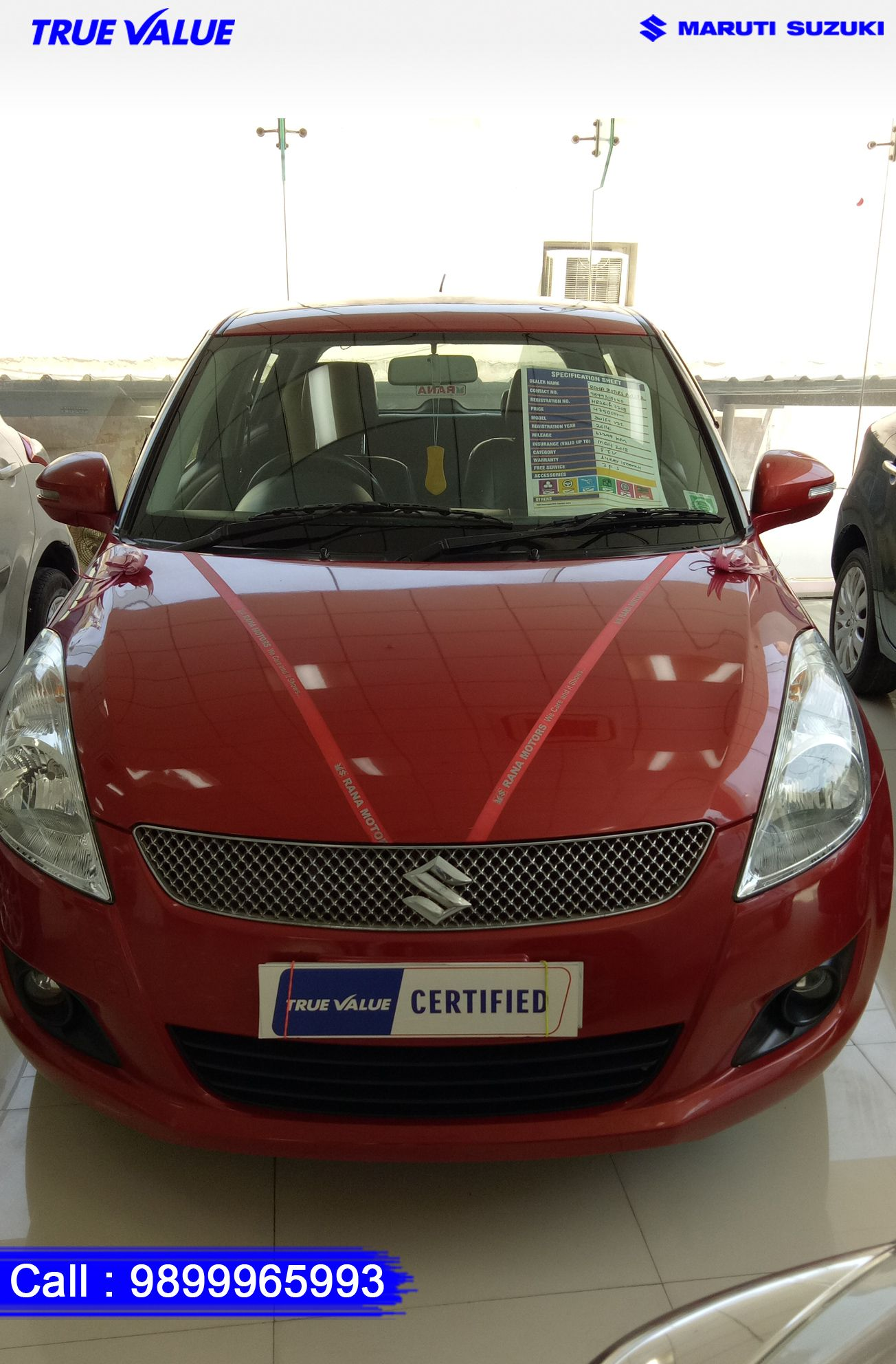 Make : Maruti Suzuki Model : Swift Variant : VDI Year : 2014