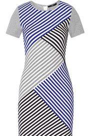 TibiRacetrack striped stretch-jersey dress