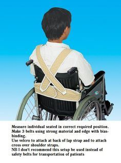 diy wheelchair lapstrap and harness therapy wheelchair rh pinterest com