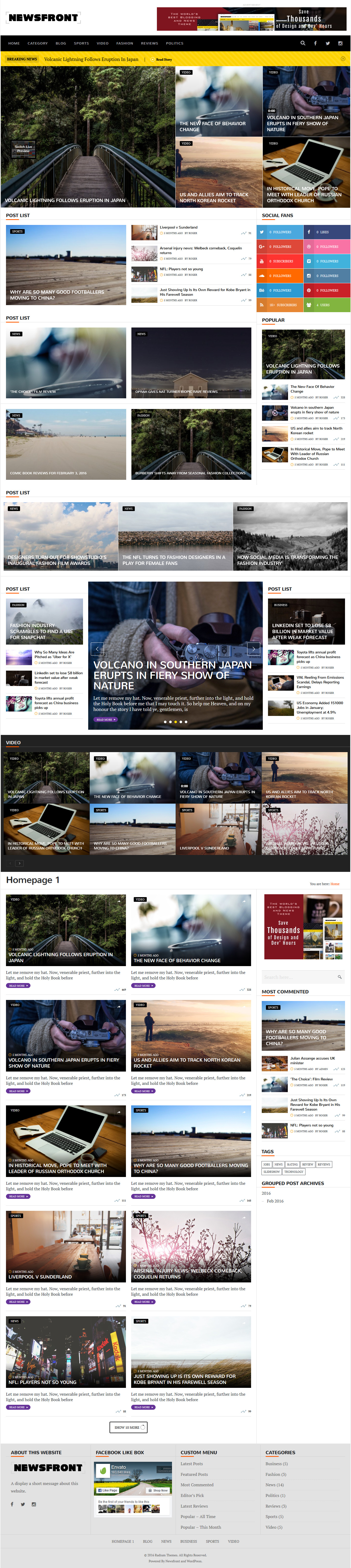 Pin by best Graphic Design on WordPress Blog and Magazine Themes