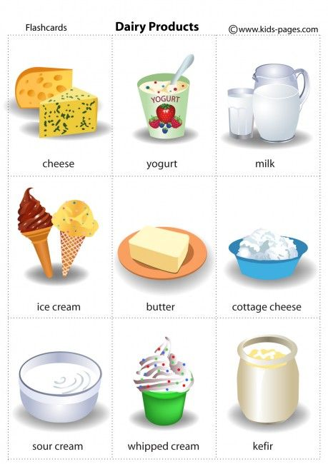 Dairy Products flashcard  Food flashcards, Flashcards, No dairy recipes