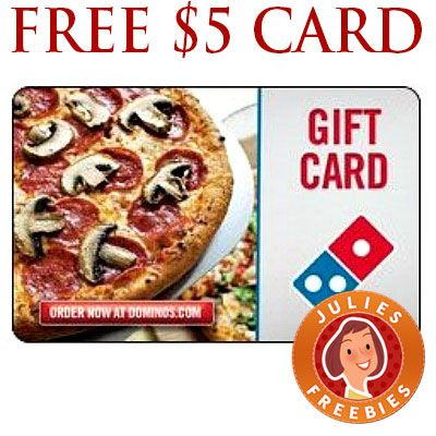 Free $5 Dominos E Gift Card | Free Stuff by Mail | Pinterest ...
