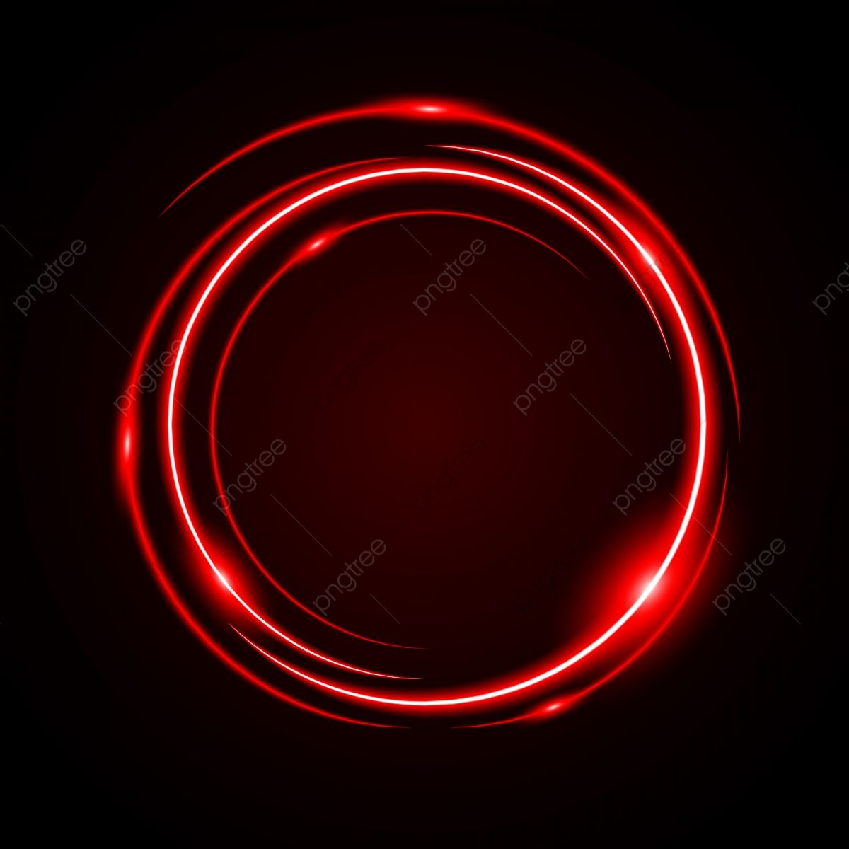 Abstract Circle Light Red Frame Vector Background Red Light Circle Png And Vector With Transparent Background For Free Download Circle Light Vector Background Red Frame