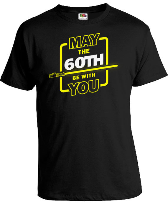 60th Birthday T Shirt Nerd Gifts For Him Movie Bday TShirt Personalized Age B Day May The