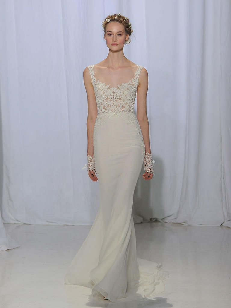cb2347b7623c Reem Acra Fall 2017: Heavenly Lace Floats Effortlessly Down the ...