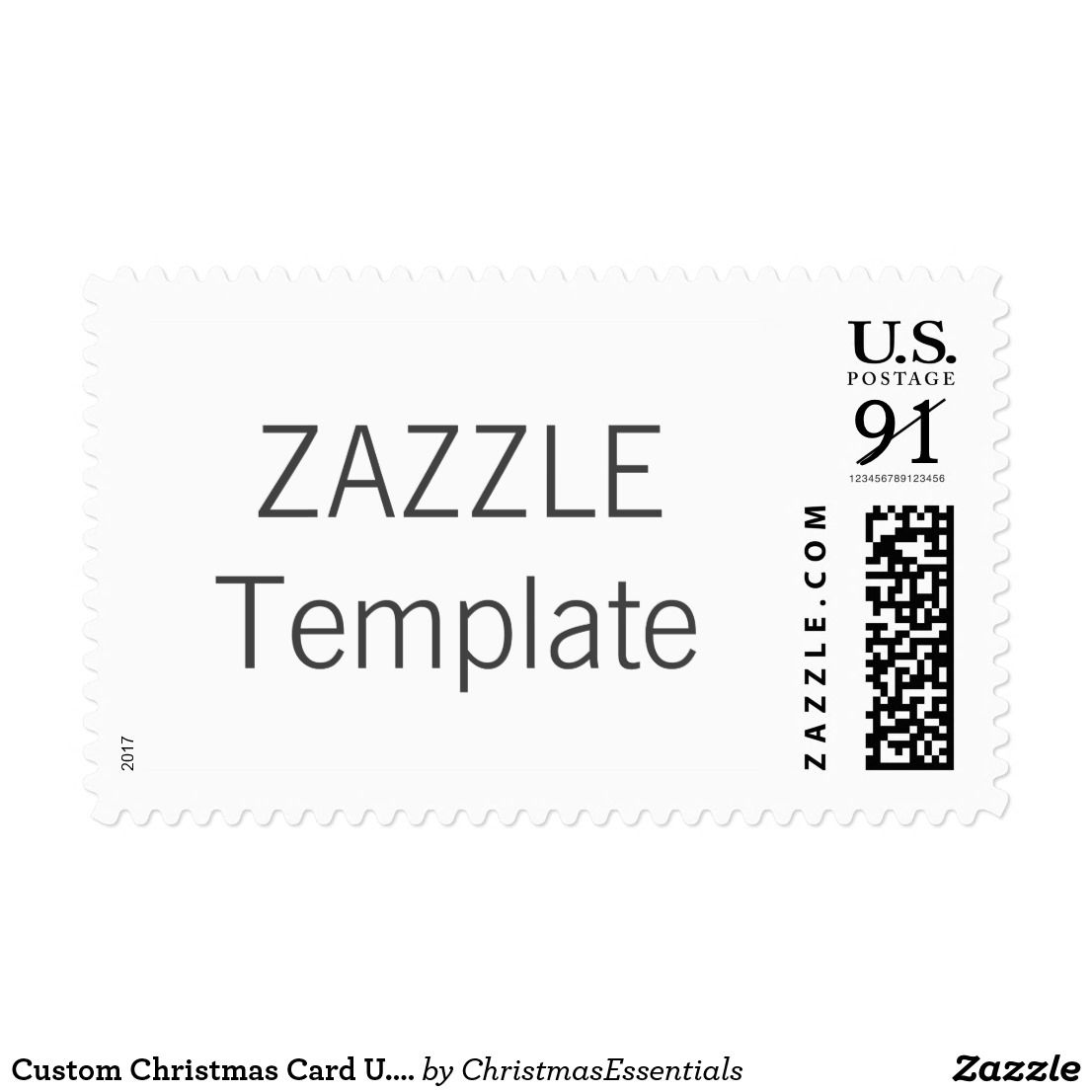 Christmas Card U.S. Postage Stamp LARGE