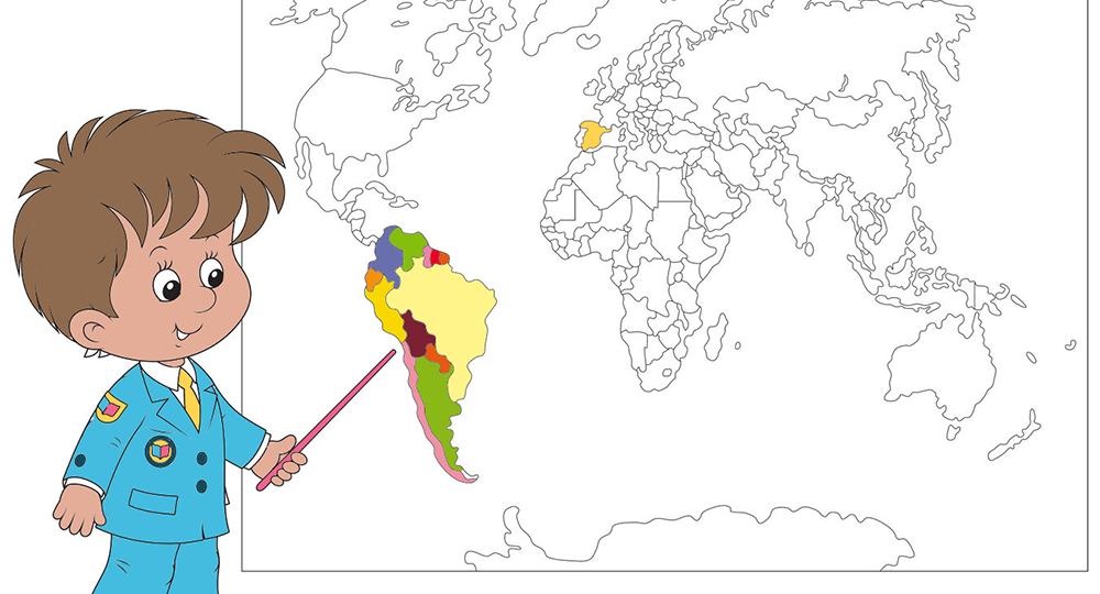 Mapamundi para colorear  Educacin  Pinterest  Mapamundi