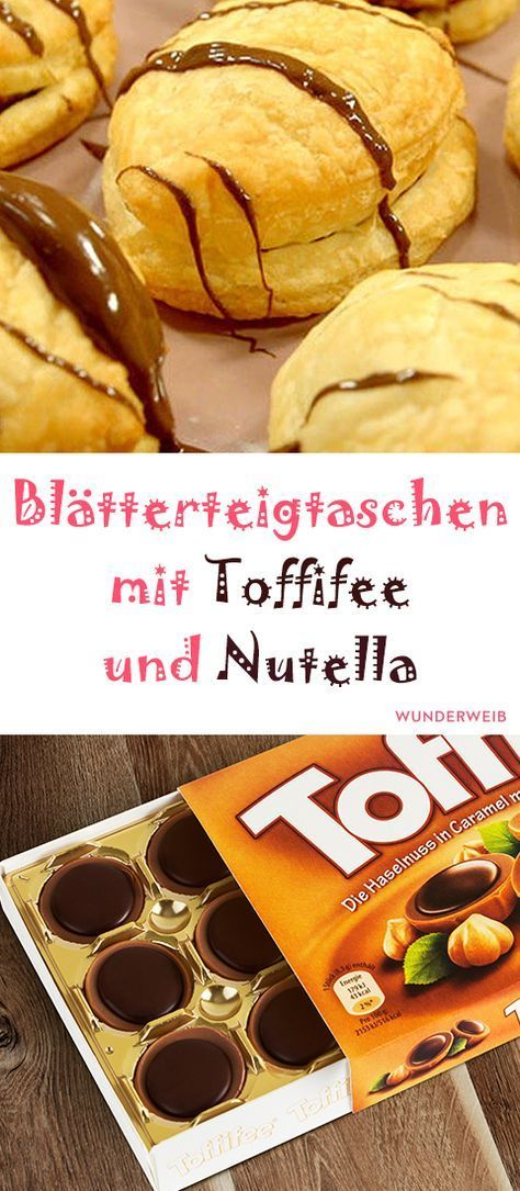 Blätterteigtaschen mit Toffifee und Nutella #quickcookies