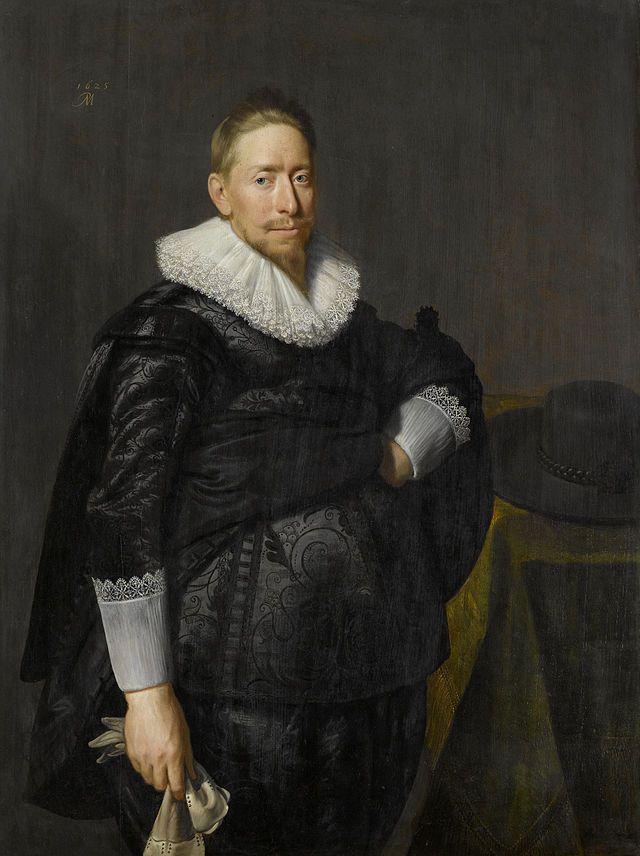 """""""Retrato de um Homem"""". (1625). (by Paulus Moreelse). Rijksmuseum, Amsterdam."""
