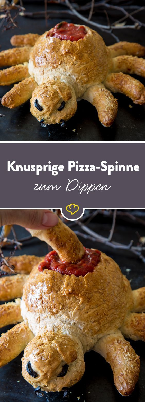 The delicious crawling crispy pizza spider to dip