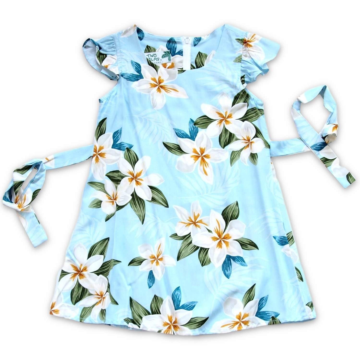 Escape Blue Hawaiian Girl Rayon Dress | Hawaiian girls, Blue ...