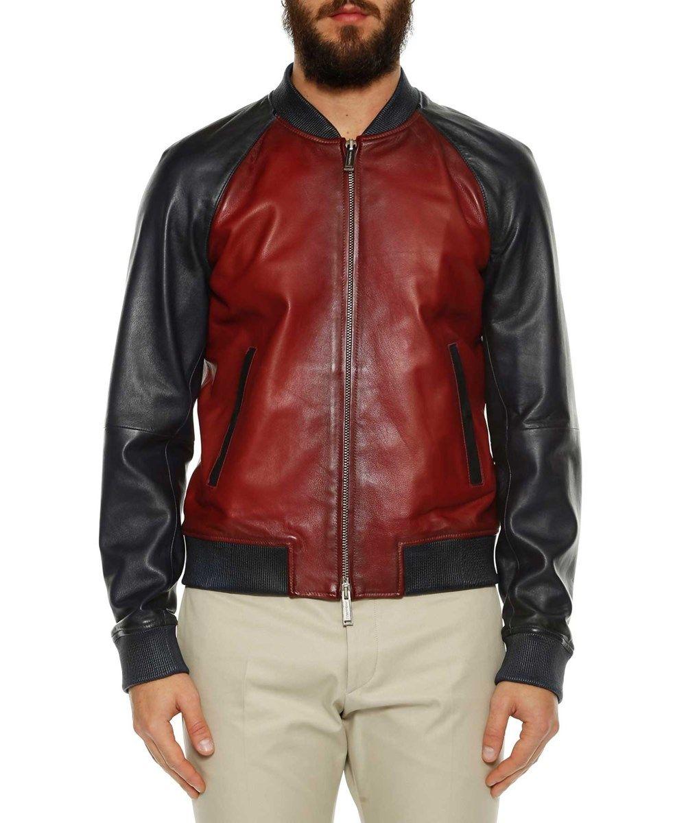 Dsquared2 Dsquared2 Men 39 S S74am0669sx9861961 Blue Red Leather Outerwear Jacket Dsquared2 Clot Leather Outerwear Leather Bomber Jacket Outerwear Jackets [ 1200 x 1000 Pixel ]