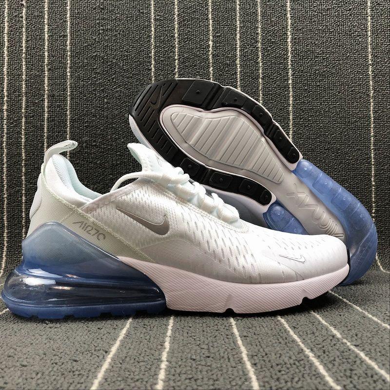 super popular 69819 d07b7 Adaptable Nike Air Max 270 Retro White   Blue Men s Casual shoes Sneaker  AH8050-100
