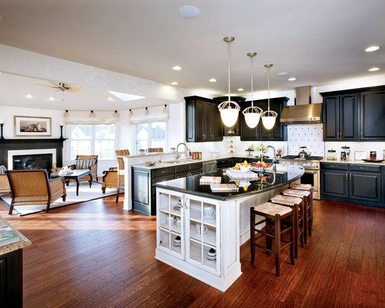 Curved Granite On Island Spaces Open Concept Kitchen Living Room Design Pict Open Concept Kitchen Living Room Kitchen Concepts Living Room And Kitchen Design