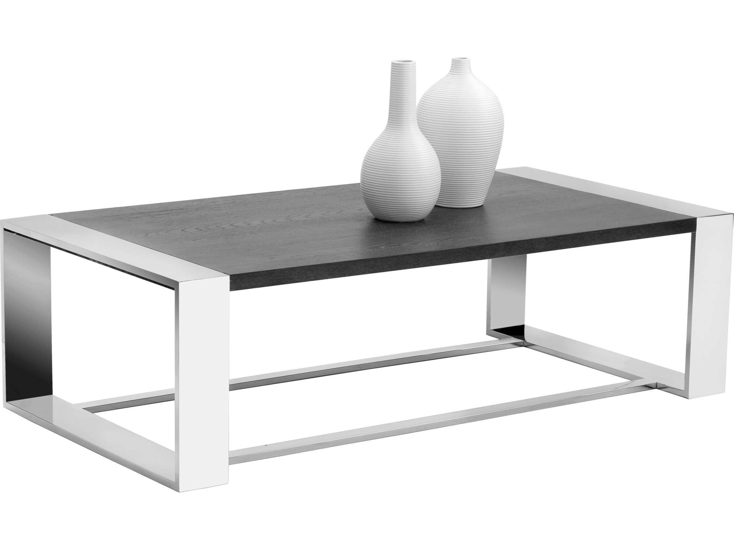Sunpan Modern Home Furniture Coffee Table Rectangular Coffee Table Stainless Steel Furniture [ 1751 x 2334 Pixel ]