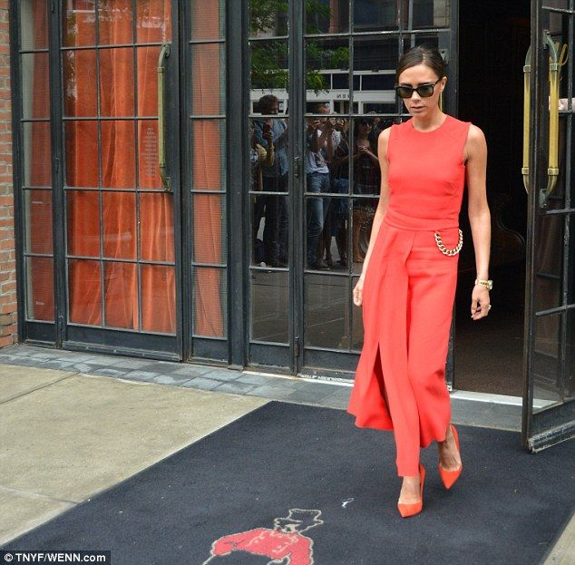 Victoria Beckham in Red Dress of Her Design - Page 4 of 4 | RunwayPass