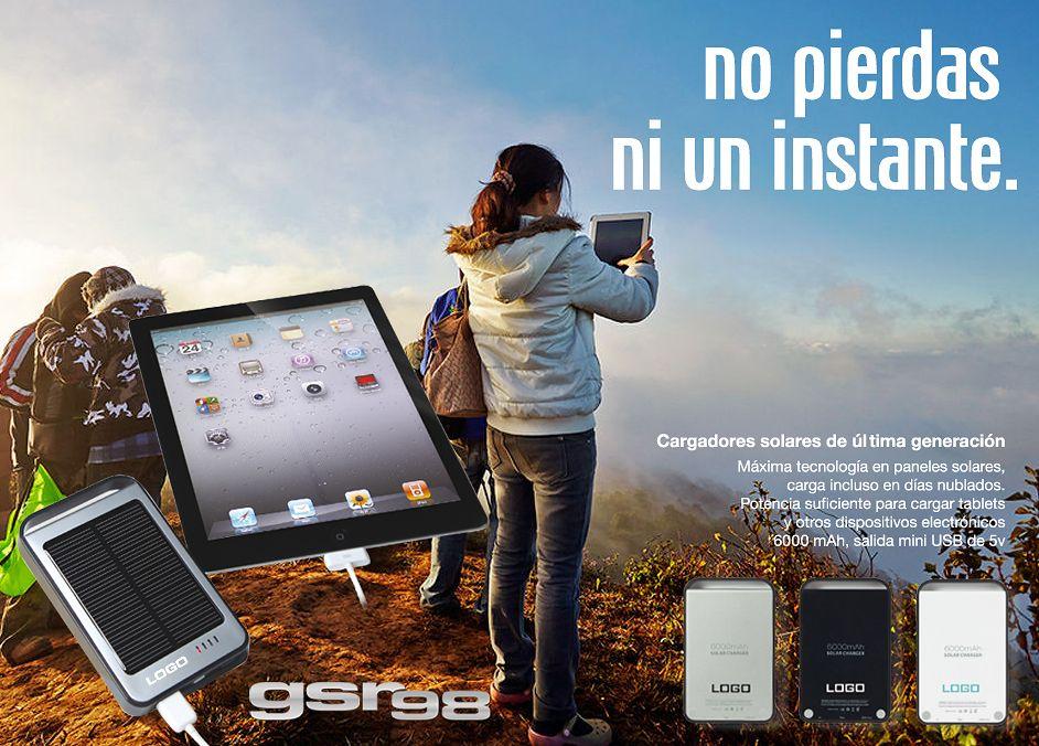 No te pierdas ni un instante con estos cargadores solares de última generación http://goo.gl/Afr68h Personalizable con tu logo para campañas #promocionales