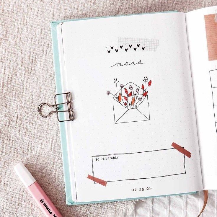 """Kawaii Pen Shop on Instagram: """"There's beauty in simplicity.🌹Inspire yourself by this amazing March bullet journal cover by @manayiiin.❤️ ⠀⠀⠀⠀⠀⠀⠀⠀⠀ ⠀⠀⠀⠀⠀⠀ ⠀⠀⠀⠀ ⠀⠀⠀⠀⠀⠀⠀⠀⠀…"""""""