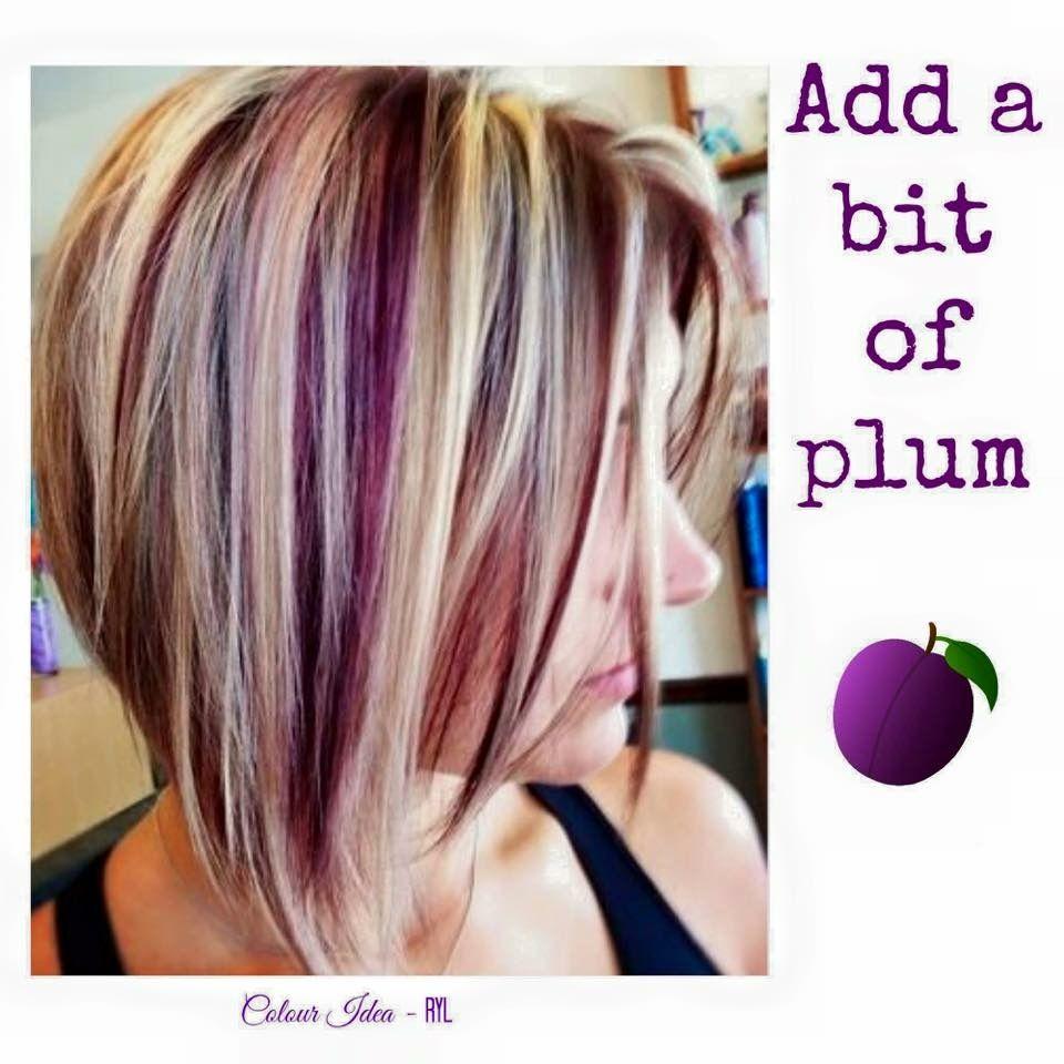 Plum And Blonde Plum Hair Short Hair Color Short Hair Styles