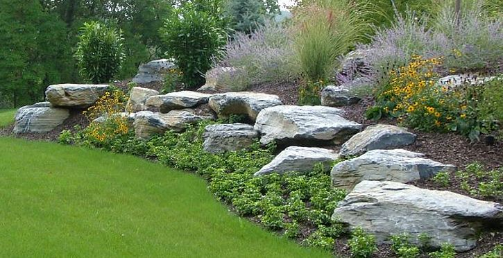 Large Landscape Boulders Dallas : In landscaping boulder installation for your home garden landscape