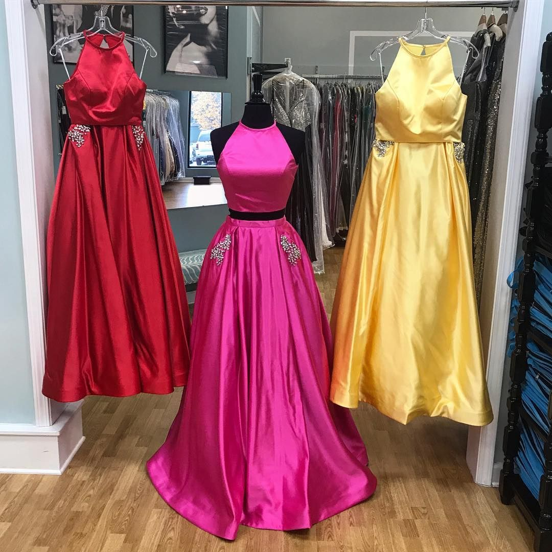 Prom dresses two piece long prom dresses piece red long prom