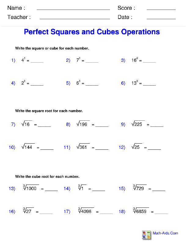 Solving Radical Equations Worksheets | Ani exponents ...