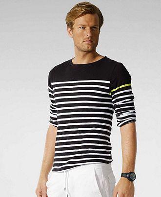 RLX Ralph Lauren Shirt, Solid Striped Jersey - Macy's