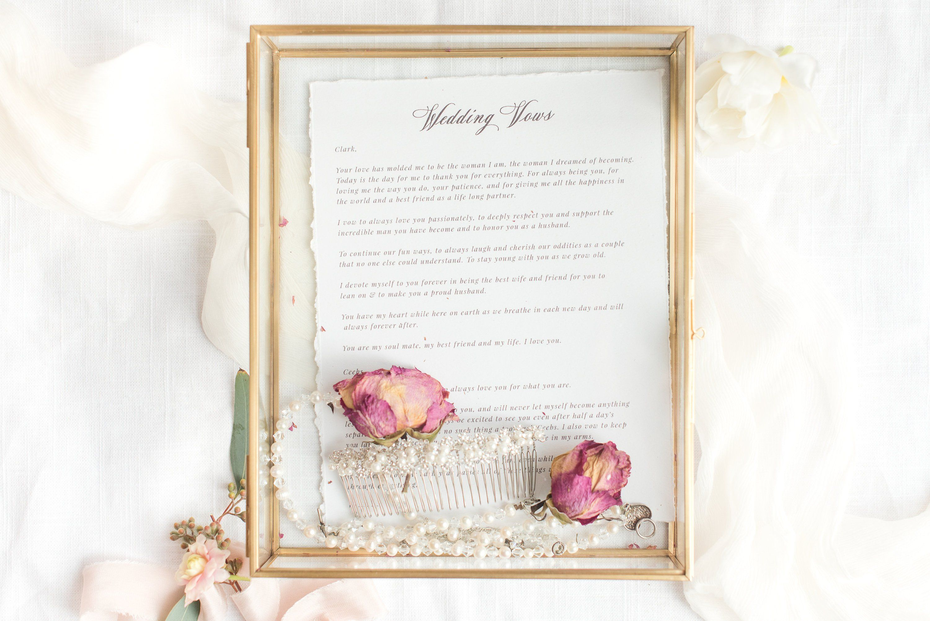 Lilac Shabby Chic Romantic Vows Personalised Wedding Sign