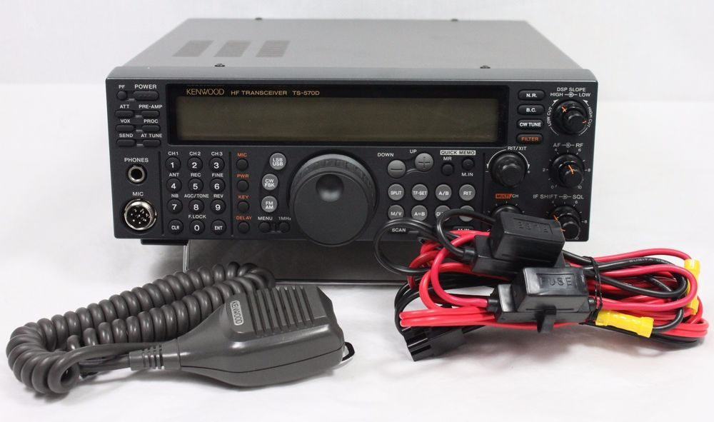 Kenwood Ts 570dg Hf Ham Radio Transceiver Basestation W Power Cord Kenwood Mic Radio Ham Radio Kenwood